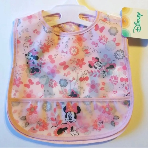 DISNEY BABY MINNIE MOUSE SET OF 2 BABY BIBS